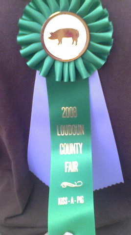 I came home from the Loudoun County Fair with a ribbon!